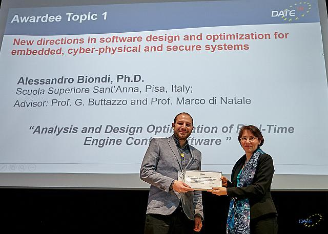 "Alessandro Biondi Awarded the European Design and Automation Association ""Outstanding Dissertation Award 2017"""